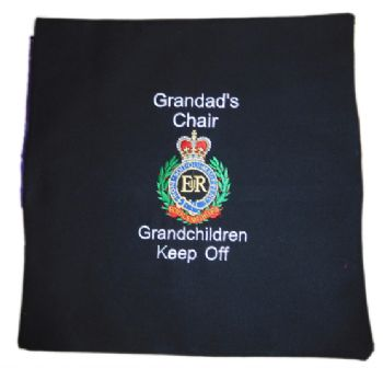 Grandparents RE Embroidered Cushion Cover